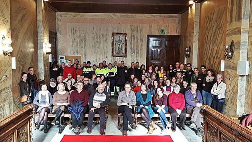 Els companys acomiaden Florenci Torrents, interventor de Berga 38 anys