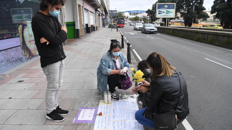 Concentraciones en A Coruña para condenar el crimen de Samuel