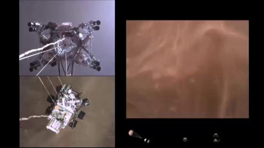 La NASA publica los primeros sonidos de Marte y un vídeo del aterrizaje del Perseverance