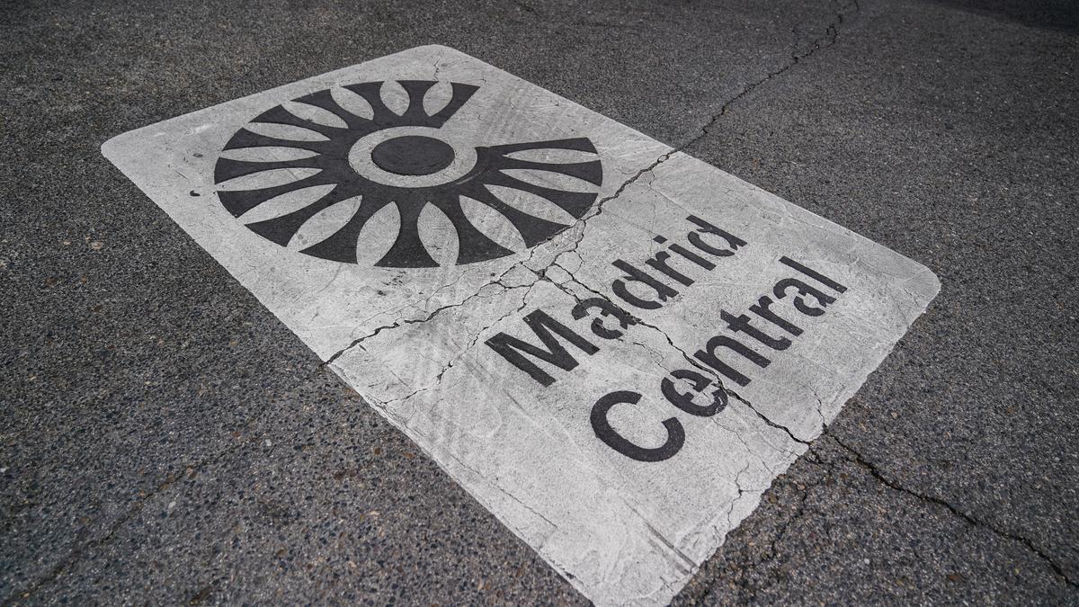 Una señal de Madrid Central.