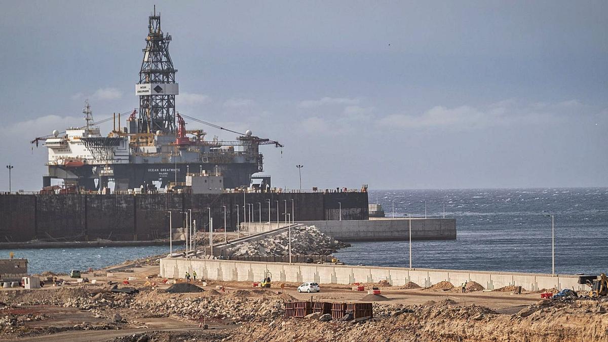 Puerto industrial de Granadilla de Abona.