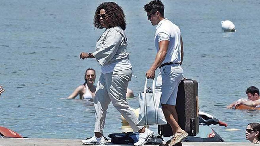 Oprah Winfrey navega por Mallorca