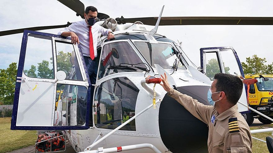 Tres nuevos helicópteros para las tareas del Infoca