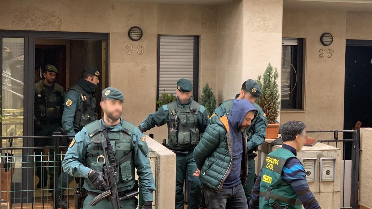 La detención de los presuntos asesinos de Ardines en septiembre de 2019.