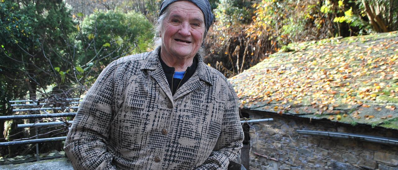 Otilia González López, la última vecina del pueblo de Froseira (Boal), fallecida el pasado domingo.