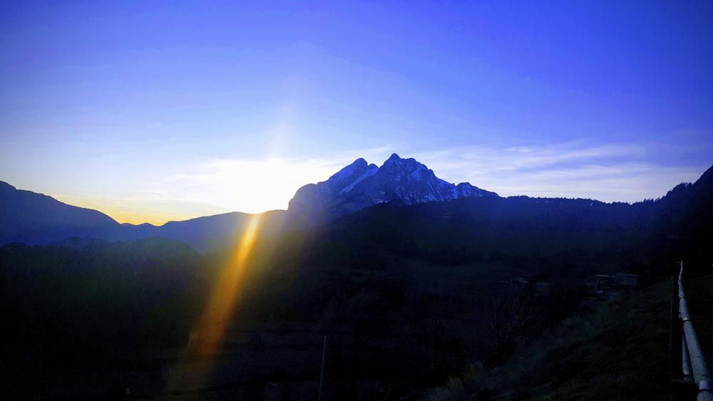 El Pedraforca des de Gisclareny.
