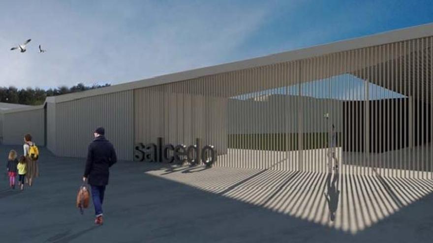 Propuesta de adjudicación para el campo de fútbol de Salcedo por valor de 1,4 millones de euros