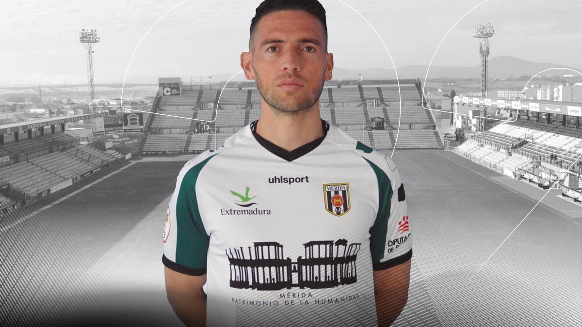 Gráfico del Mérida anunciando la continuidad de David Rocha.