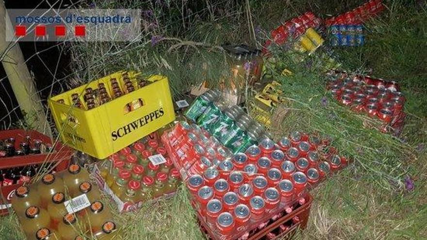 Atrapen dos lladres que havien saquejat quatre cops una empresa de begudes