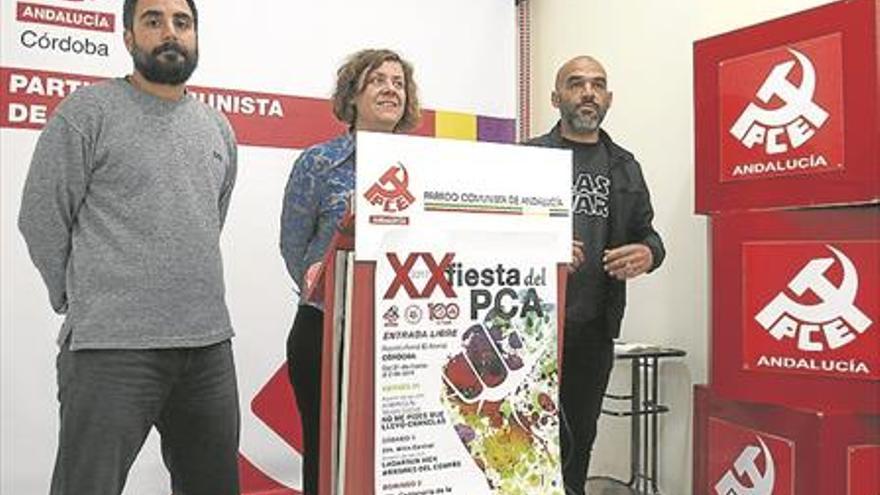 El PCA dedica su fiesta a la libertad de expresión