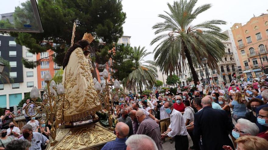 La Virgen vuelve a procesionar con público