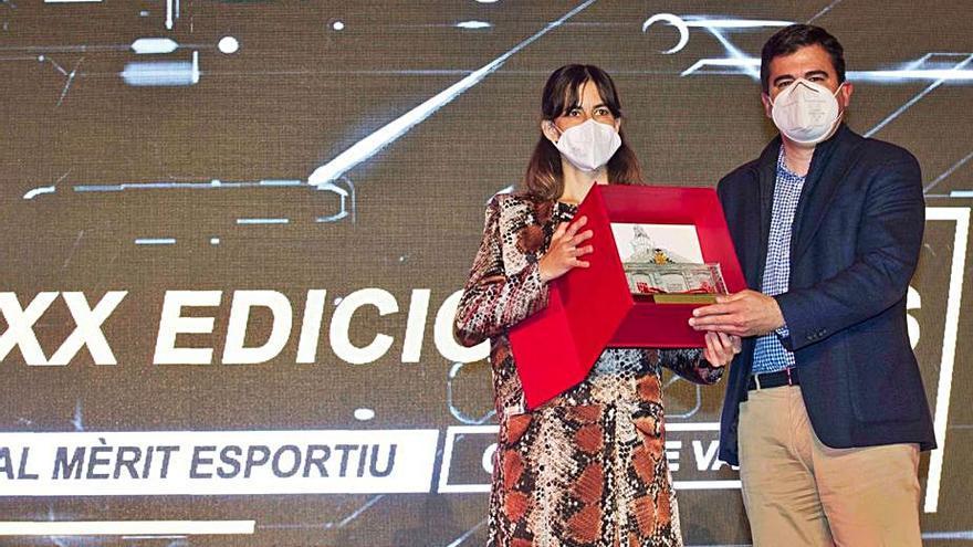 Teika recibe el Premi al Mèrit Esportiu Ciutat de València