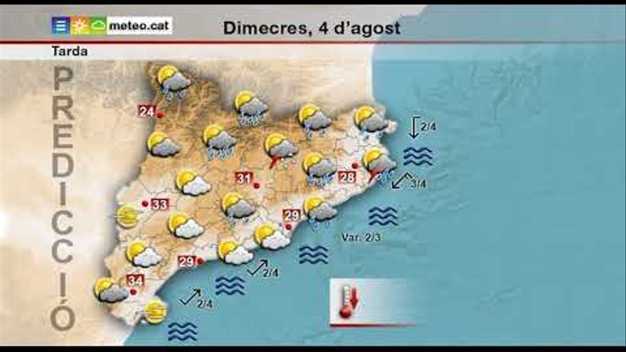 Alerta per pluges intenses demà a les comarques gironines