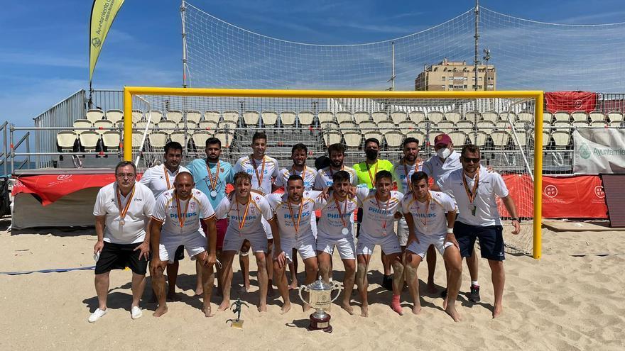 Murcia, subcampeona de España de fútbol playa