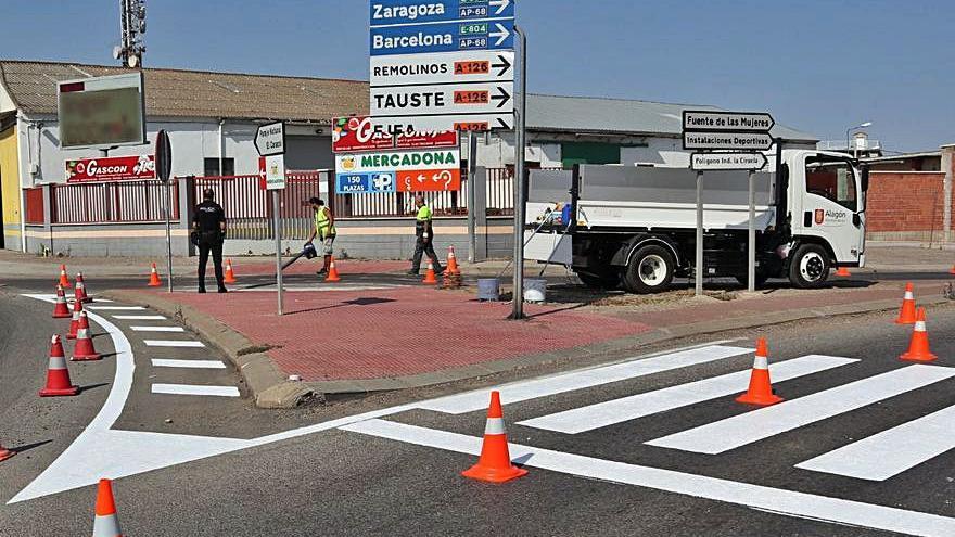 Mejoras en la señalización de la rotonda de acceso