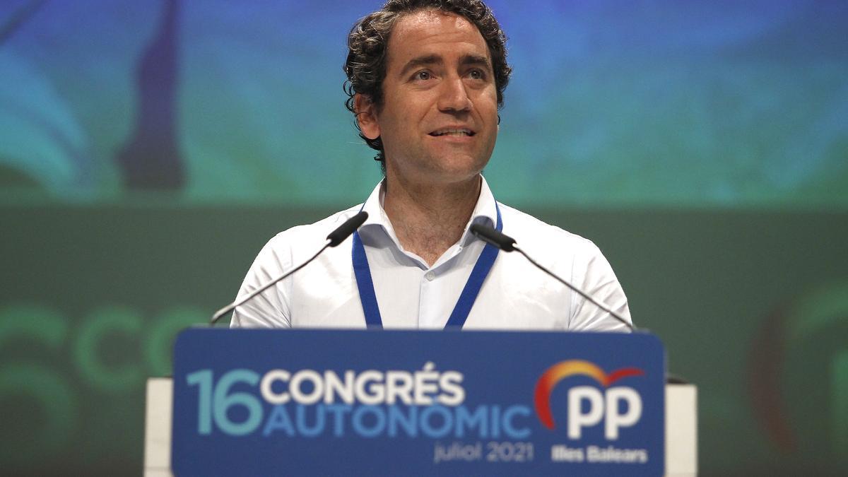 El secretario general del PP, Teodoro García Egea, en el XVI congreso regional del PP de Baleares , a 24 de julio de 2021.