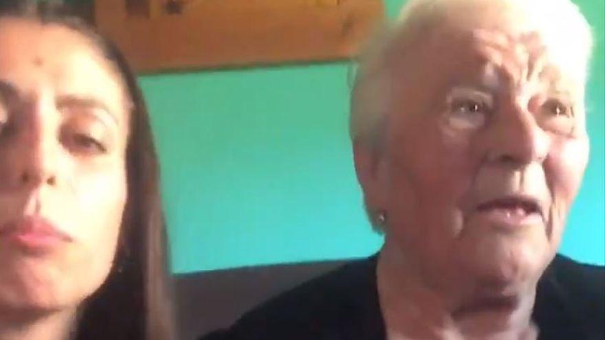 """La abuela embarazada gallega agradece la repercusión del vídeo en inglés: """"Cedo everybody"""""""