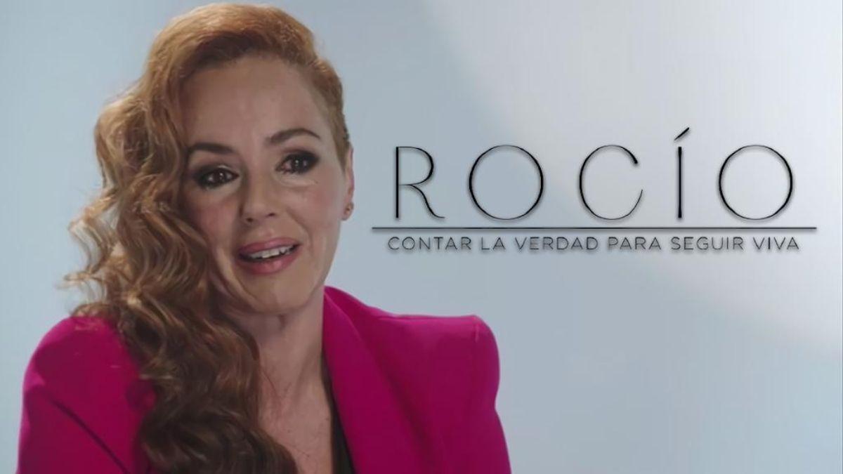 Rocío Carrasco hablando en su doc-serie en Telecinco.