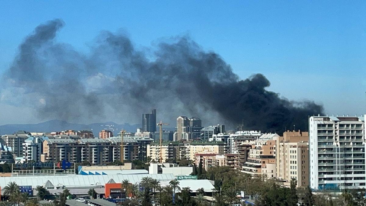 Incendio en Valencia.