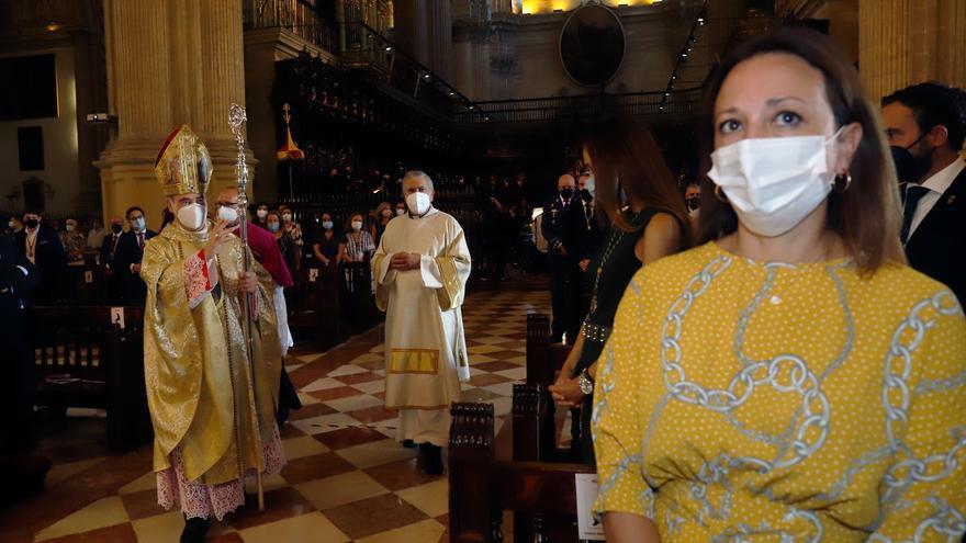 Misa en honor de la Virgen de la Victoria en la Catedral de Málaga