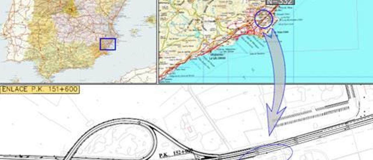 El Gobierno aprueba provisionalmente el proyecto de un carril de incorporación de la N-332 en Benidorm