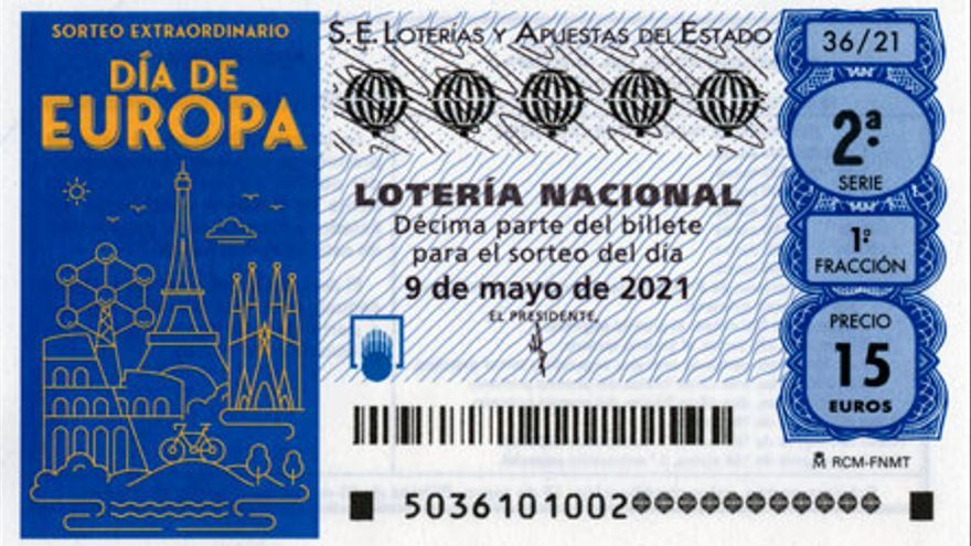 Lotería Nacional: Resultados del sorteo extraordinario del Día de Europa del domingo 9 de mayo de 2021