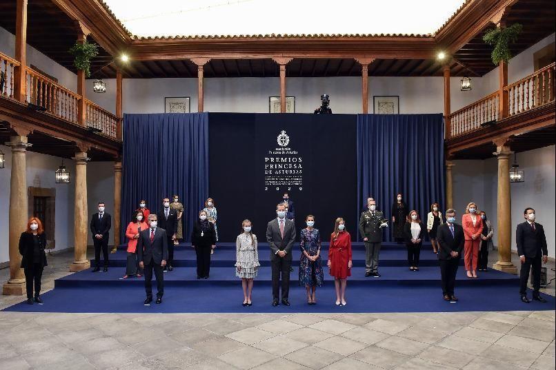 Premios Princesa de Asturias 2020 | Los Reyes reciben a los premiados en el hotel de la Reconquista