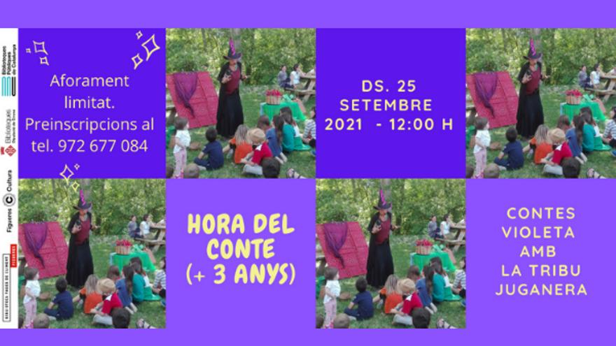 Hora del conte Contes Violeta La Tribu Juganera