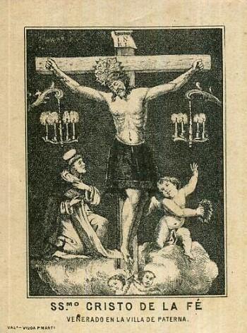 """Imagen del Cristo conocido como """"el morenet"""" de Paterna."""
