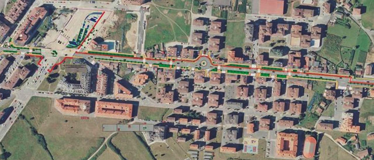 La nueva avenida de Viella: una calzada de 6 metros de ancho, carril bici y zona verde