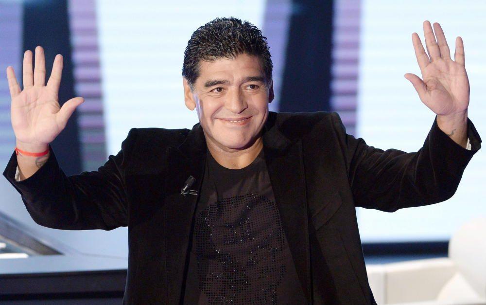 Diego Armando Maradona at Italian tv Show