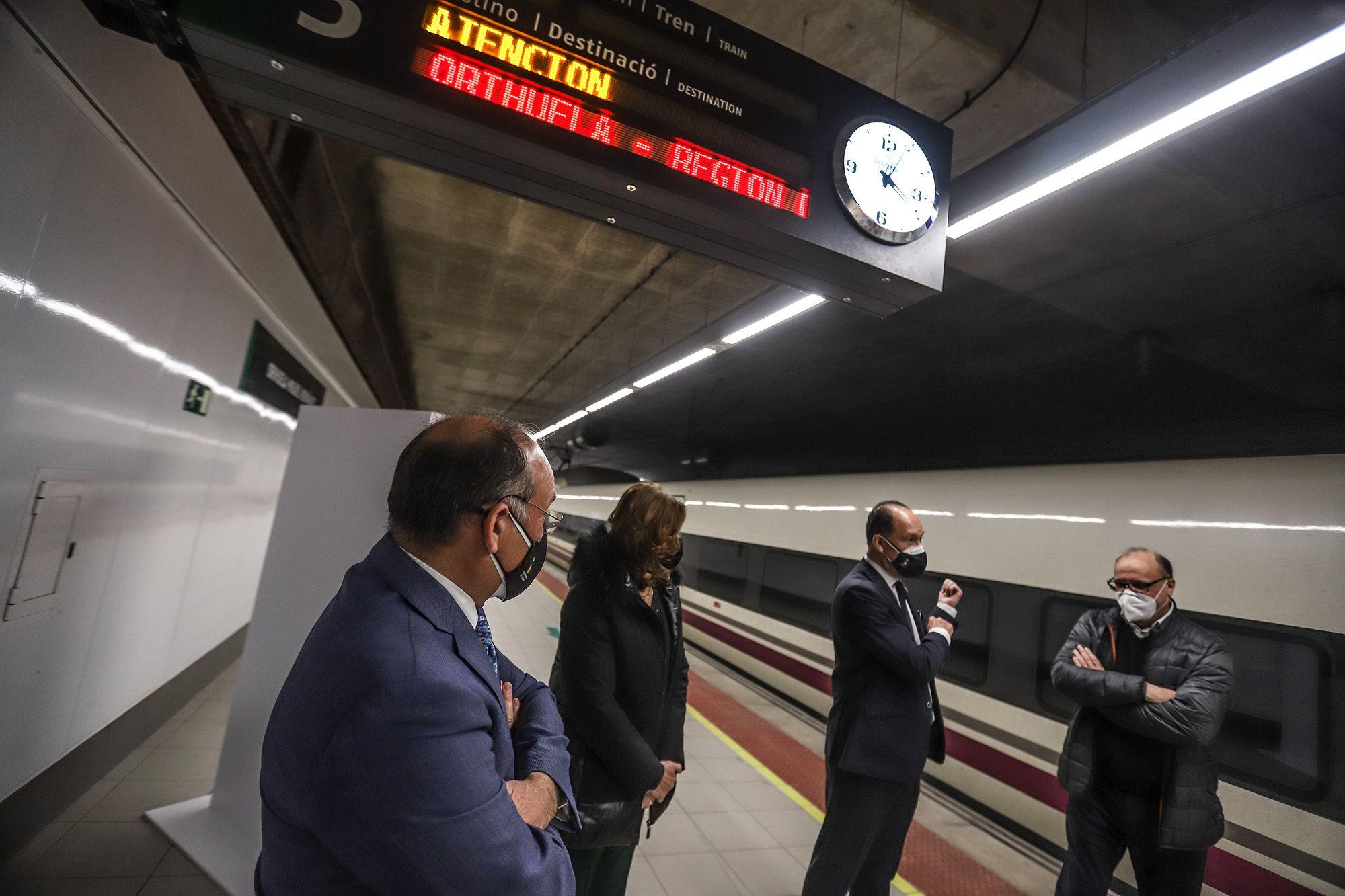 Así fue la inauguración de la nueva línea de AVE de Orihuela