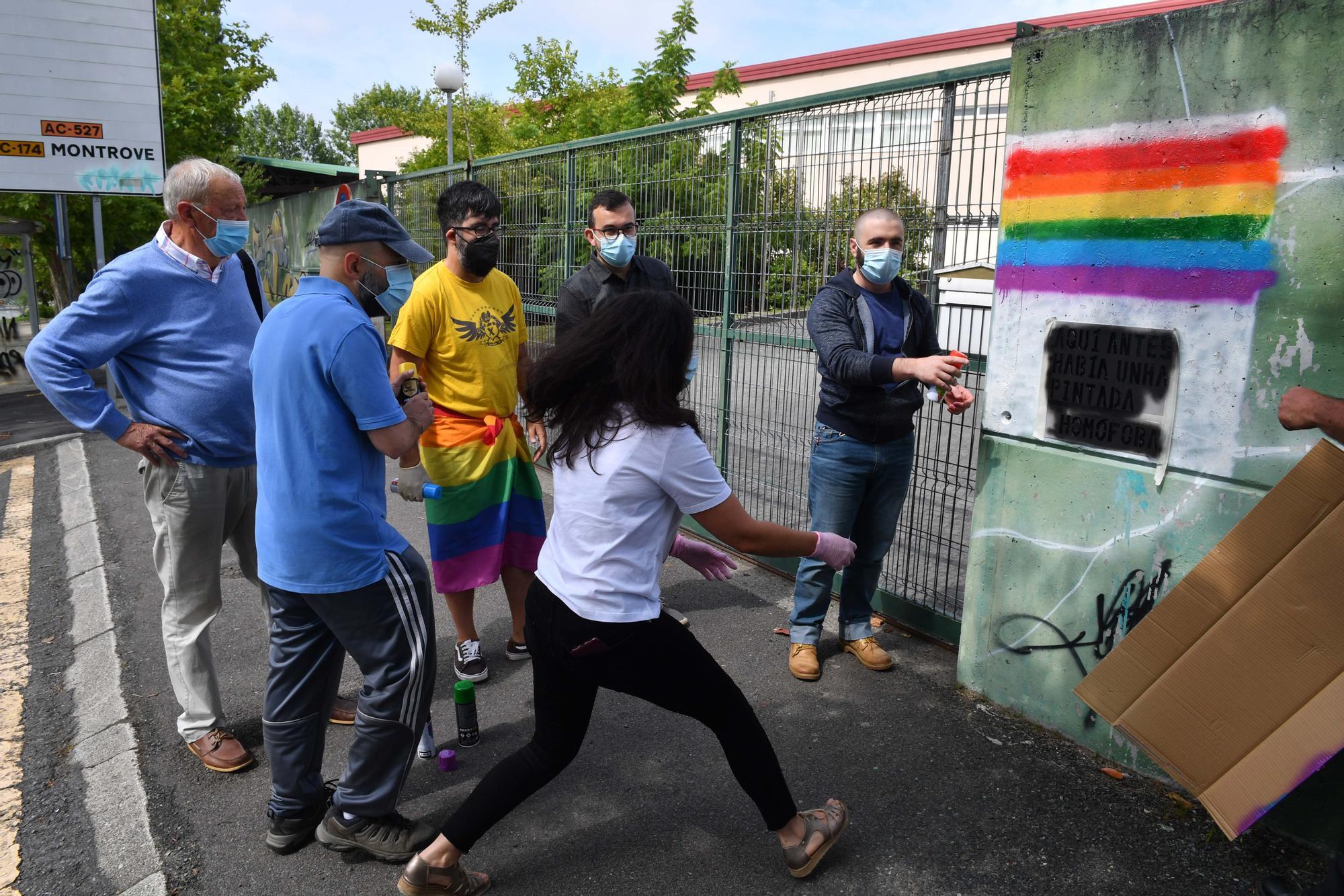 Limpieza de mensajes LGBTófobos en Oleiros