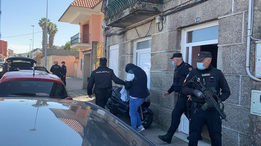 Seis detenidos en una operación antidroga en Teis y Samil