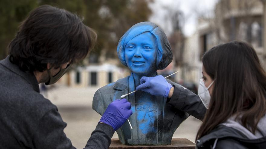 Cultura restaura las cuatro esculturas vandalizadas