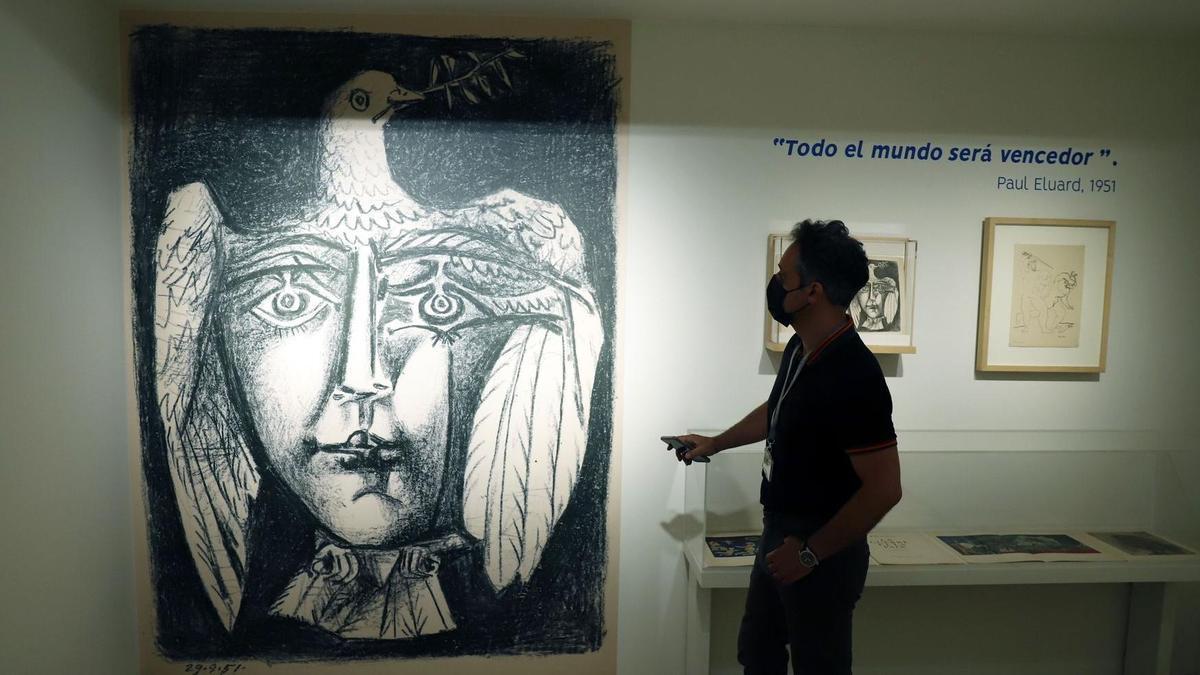 Una obra de la exposición 'Au rendez-vous des poètes. Picasso y los libros'.