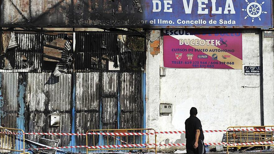 El Consultivo salva a Sada de pagar 168.000 euros por el incendio de la escuela de vela