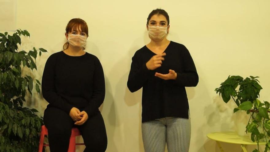Alumnos de Son Llebre retratan la realidad de las personas con sordoceguera