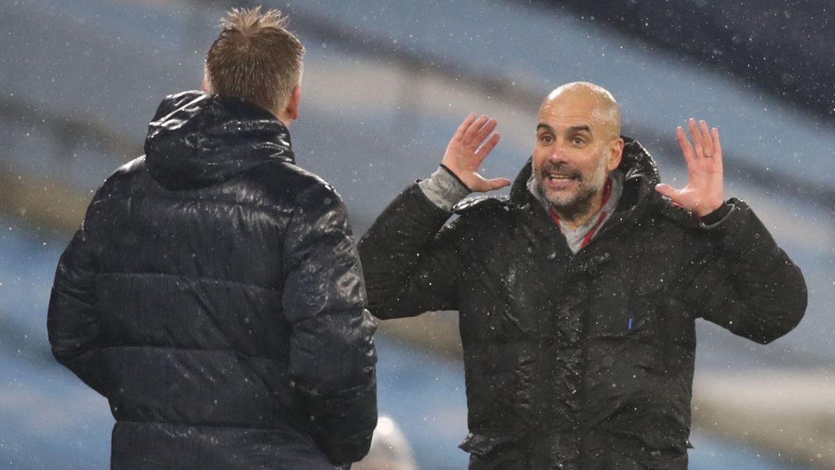 El City de Guardiola, líder provisional de la Premier tras batir al Aston Villa (2-0)