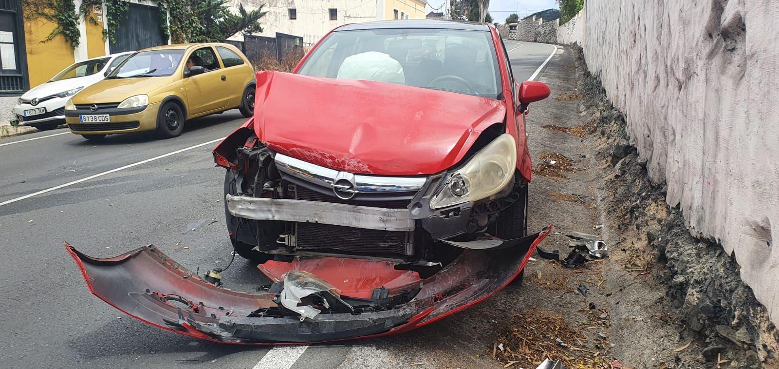 Un herido leve al salirse de la carretera en Santa Brígida