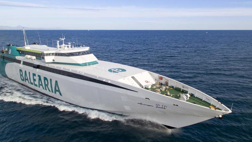 Baleària conectará Dénia y Formentera en menos de dos horas con el remotorizado 'fast ferry Ramon Llull'