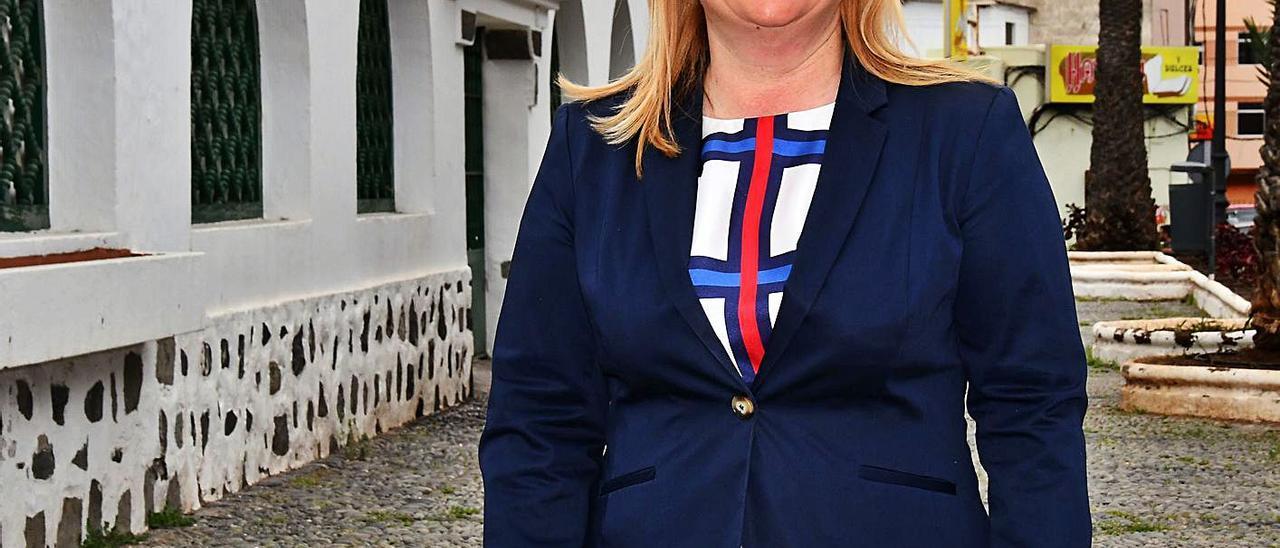 Mónica Muñoz, presidenta de la asociación de empresarios del barrio de San Gregorio.
