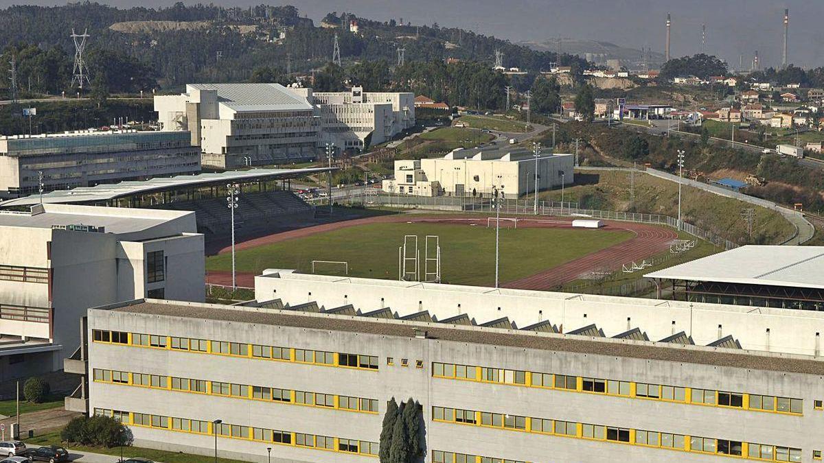 Vista parcial del campus de Elviña de la Universidade da Coruña.