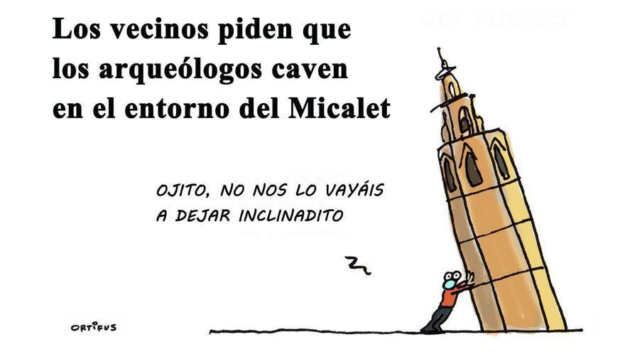 Los vecinos piden que los arqueólogos caven en el entorno del Micalet