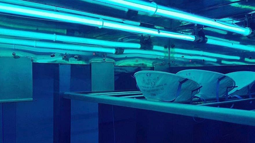 Eurecat assaja amb èxit el nou sistema de la bagenca EVila per desinfectar mascaretes