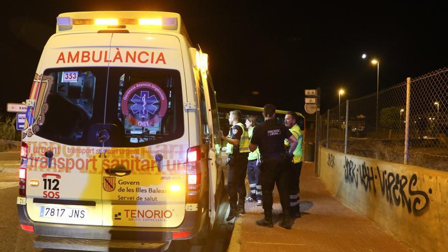 Herido al caerse de su moto en una carretera de Ibiza
