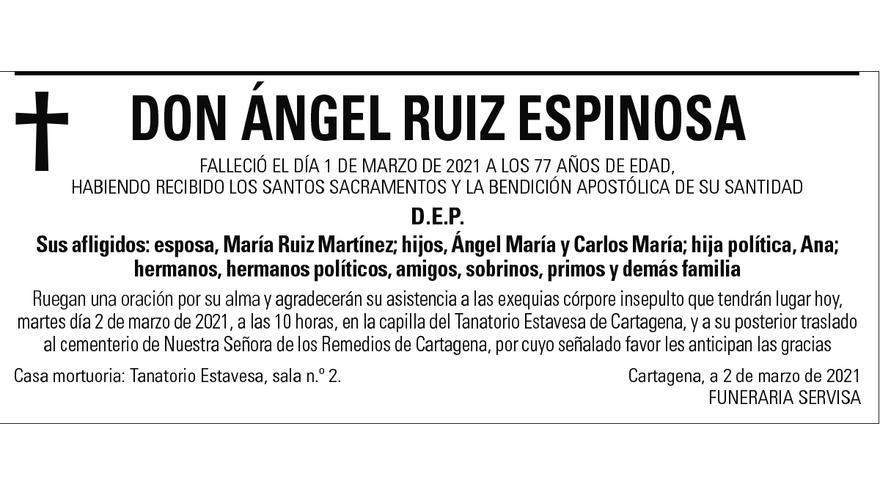 D. Ángel Ruiz Espinosa