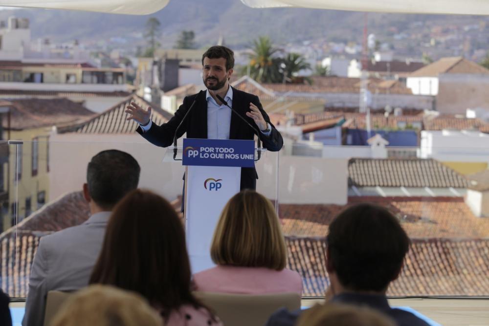 Acto de Pablo Casado en Tenerife
