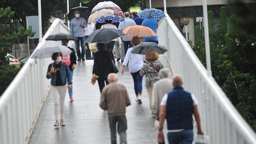 Llueve con fuerza en Elche: casi 40 litros hoy