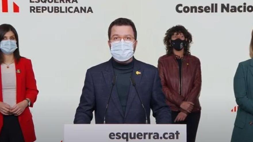 ERC aprueba sus listas para el 14F con Aragonès como candidato